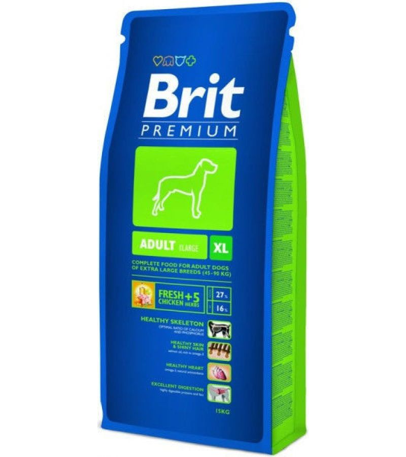 Brit Premium Adult XL 15кг-корм для собак гигантских пород