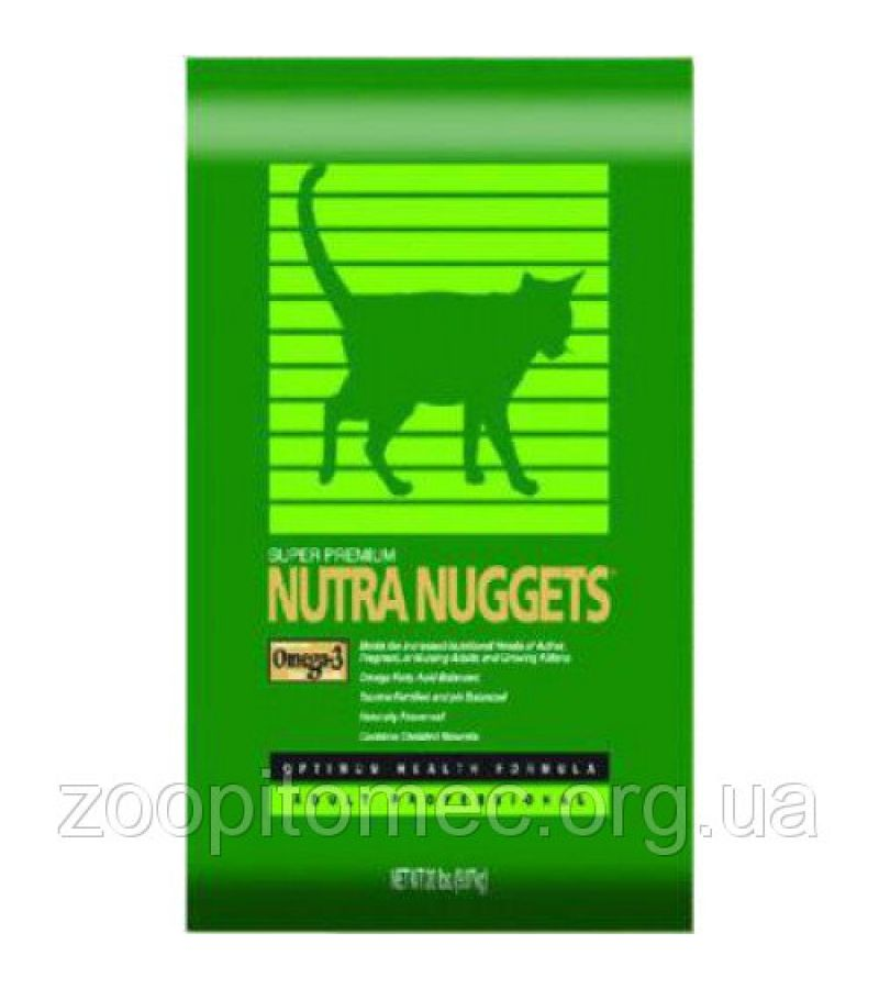 Корм для кошек Nutra Nuggets (Нутра Нагетс)  Indoor  Hairball Control Formula 10 кг